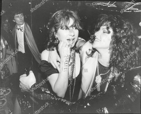 Dido Goldsmith (mrs. Peter Whitehead) And Sister Clio Goldsmith 1979 At Brazilian Night Party.