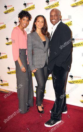 Lydia R Diamond, Alicia Keys and Kenny Leon