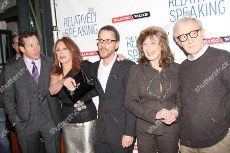 Steve Guttenberg, Marlo Thomas, Ethan Coen, Elaine May and Woody Allen