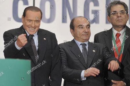 Italian Prime Minister Silvio Berlusconi and Domenico Scilipoti, President of Movement of National Responsibility