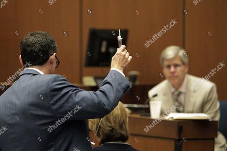 Editorial photo of Dr Conrad Murray trial, Los Angeles, America - 21 Oct 2011