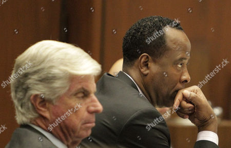 Defence attorney J. Michael Flanagan and Dr. Conrad Murray