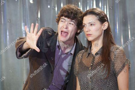 Alex Vlahos as Britannicus and Hara Yannas as Junia.