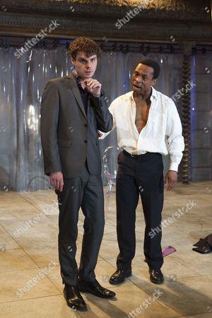 Stock Image of Matthew Needham as Nero, left, and Jude Akuwudike as Burrhus