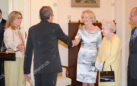 Geoffrey Rush and wife Jane Menelaus, The Governor-General of Australia, Quentin Bryce, Queen Elizabeth II and Prince Philip