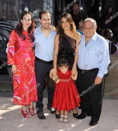 Stock Photo of Salma Hayek, Valentina Paloma Pinault, Sami Hayek Jr Doming