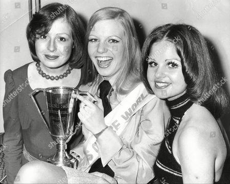 Editorial photo of Suzy Green Elizabeth Keller And Julia Morris Winners Of Miss Office World 1973.
