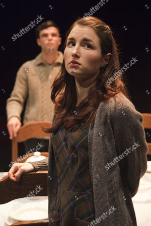 Stock Image of 'Shalom Baby' - Tom Ross-Williams as Morris Weissmann and Katie Borland as Natalie Weissmann.