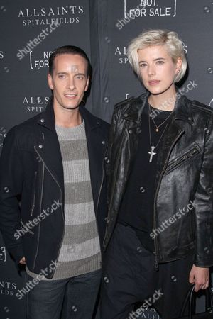 Stock Picture of Chris Bletzer and Agyness Deyn