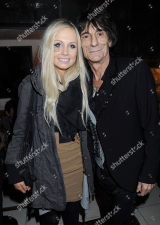 Nicola Sargent and Ronnie Wood