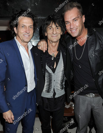 Stock Picture of Stephen Webster, Ronnie Wood and Calum Best