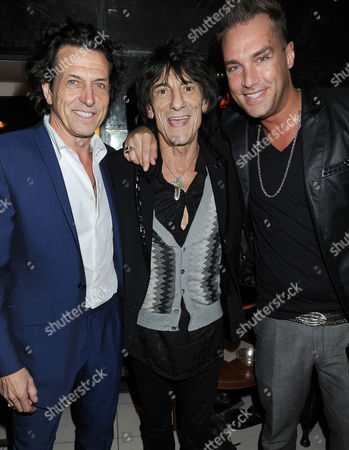 Stephen Webster, Ronnie Wood and Calum Best