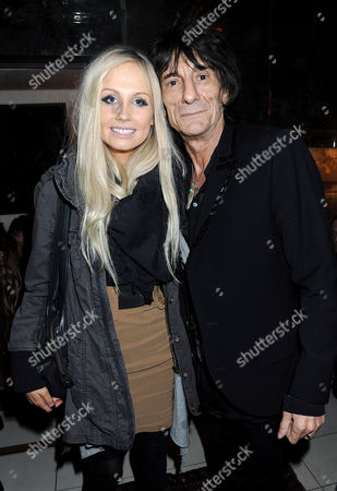 Stock Image of Nicola Sargent and Ronnie Wood