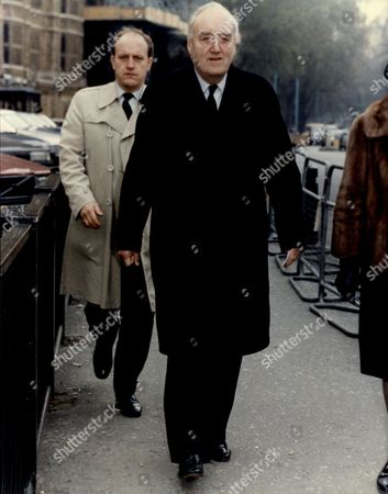 Lord William Whitelaw (dead 7/99) Arrives At The House Of Commons On The Day Margaret Thatcher Resigned