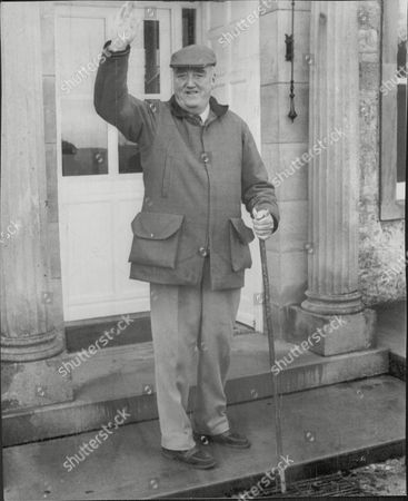 Viscount (william) Whitelaw Waves Goodbye From The Front Door Of His Office