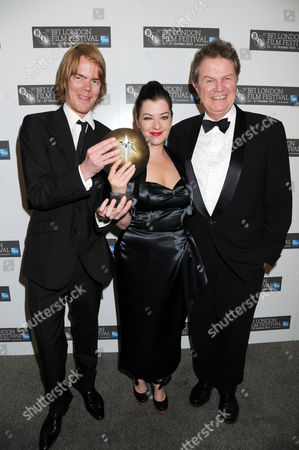 Stock Picture of Rory Stuart Kinnear (co-writer of the screenplay), Lynne Ramsay (winner: Best Film award - for We Need to Talk About Kevin) with John Madden (R)