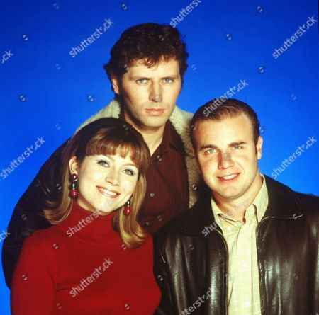 Stock Photo of Tricia Penrose, Martin Ledwith and Gary Barlow