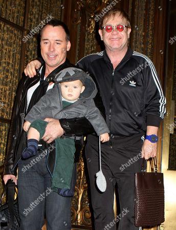 David Furnish, Sir Elton John and son Zachary Jackson Levon Furnish-John