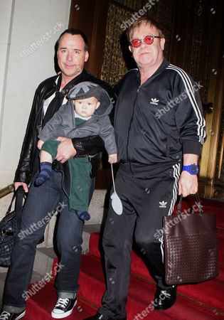 Editorial photo of Elton John and David Furnish out and about in New York, America - 27 Oct 2011