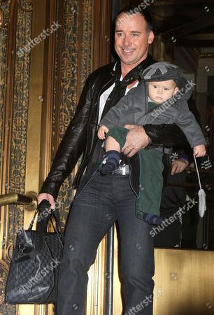 Stock Photo of David Furnish and son Zachary Jackson Levon Furnish-John