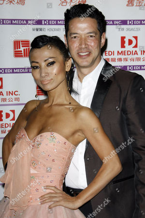 Bai Ling and Russell Wong