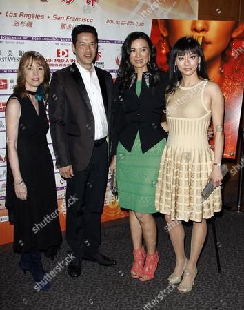 Lisa See, Russell Wong, Wendi Deng Murdoch and Florence Sloan