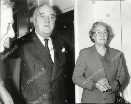 Viscount (william) Whitelaw (dead 7/99) And His Wife Lady Whitelaw Leaving Westminster Hospital After Lord Whitelaw Suffered A Mini Stroke