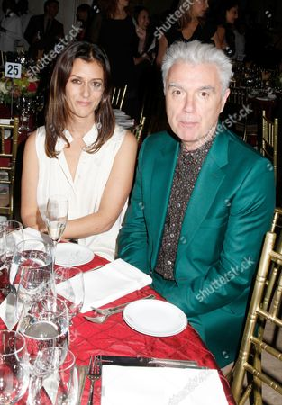 Sally Singer and David Byrne