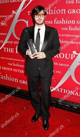 Stock Image of Francois Nars, with his award for Beauty