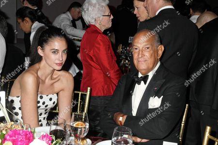 Erika Bearman, Oscar De La Renta's PR person with Oscar de la Renta