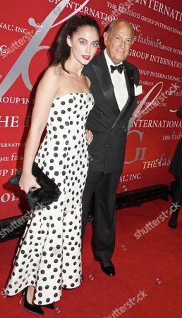 Stock Photo of Erika Bearman, Oscar De La Renta's PR person with Oscar de la Renta
