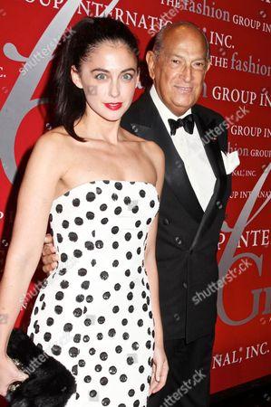 Stock Picture of Erika Bearman, Oscar De La Renta's PR person with Oscar de la Renta