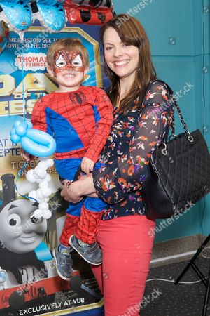 Stock Photo of Kate Ford and son Otis Connerty