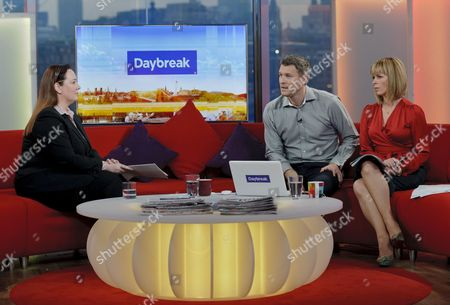 Rebecca Jones with Dan Lobb and Kate Garraway