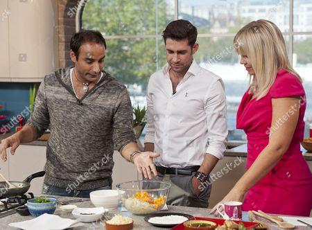 Reza Mahammad with Matt Johnson and Kate Thornton.