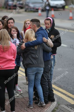 Editorial image of 'X Factor' arrivals at Fountain Studios, Wembley, London, Britain - 30 Oct 2011
