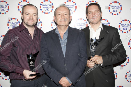 Dennis Kelly and Michael Boyd accept the award for Best Musical Production and Bertie Carvel wins the award for Best Performance in a Musical