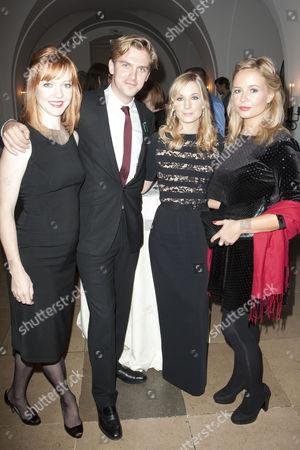 Susie Stevens, Dan Stevens, Joanne Froggatt and Claire Marlowe