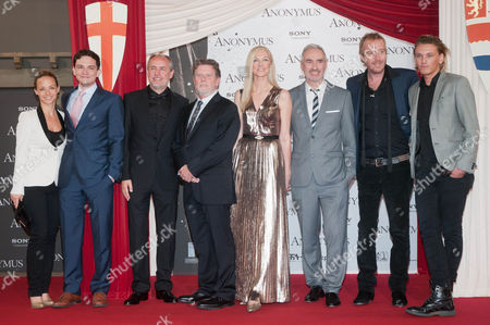 Guest, Sebastian Armesto, Guest, Guest, Joely Richardson, Director Roland Emmerich, Rhys Ifans and Jamie Campbell Bower