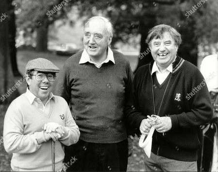 Ronnie Corbett Viscount (william) Whitelaw (dead 7/99) And Jimmy Tarbuck At A Conservative Chartity Event At Moor Park Golf Club
