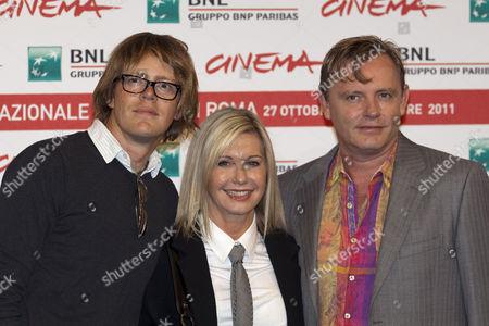 Kris Marshall, Olivia Newton-John and Director Stephan Elliott
