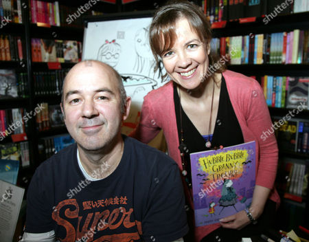 Editorial picture of Tracey Corderoy and Joe Berger promote their book 'Hubble Bubble Granny Trouble', Bath, Somerset, Britain - 29 Oct 2011