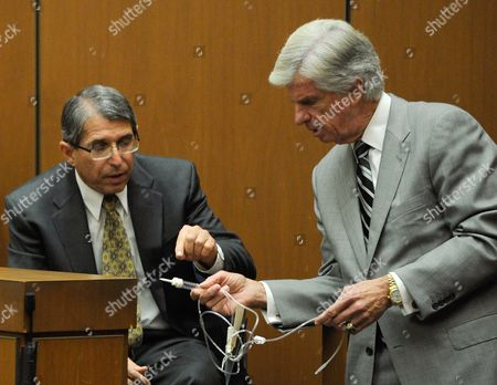 Dr. Paul White is questioned by defence Attorney J. Michael Flanagan