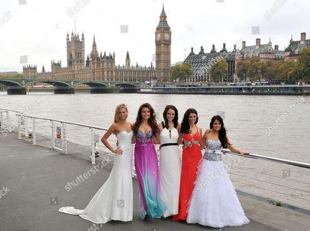 Miss England Alize Mounter, Miss Scotlnad Jennifer Reoch, Miss Wales Sara Manchipp, Miss Northern Ireland Finola Guinnane and Miss Ireland Holly Carpenter