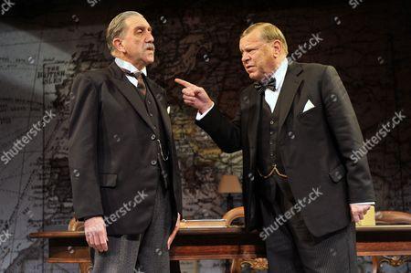 Stock Photo of 'Three Days in May' - Robert Demeger (Neville Chamberlain) and Warren Clarke (Winston Churchill)