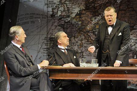 'Three Days in May' - Jeremy Clyde (Lord Halifax), Robert Demeger (Neville Chamberlain) and Warren Clarke (Winston Churchill)