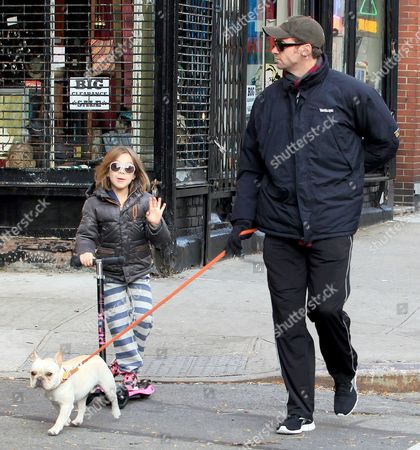 Ava Eliot Jackman, Hugh Jackman and dog Mochi