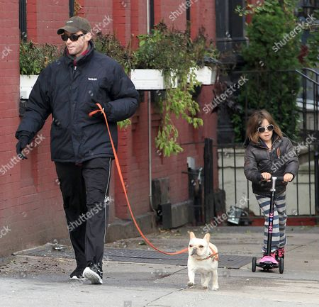 Hugh Jackman, Ava Eliot Jackman and dog Mochi