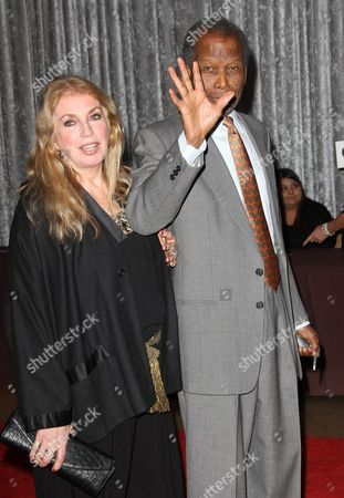 Stock Picture of Sidney Poitier and Joanna Shimkus