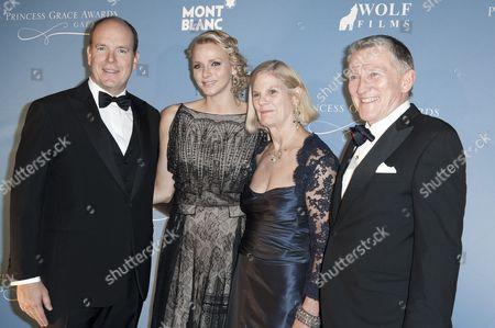 Prince Albert II ll of Monaco, Princess Charlene of Monaco and John F Lehman